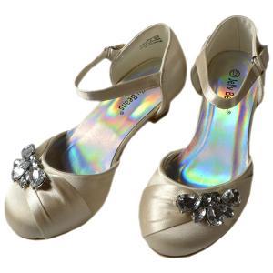 フォーマル 靴 女の子 18-23cm シャンパン シューズ|paranino
