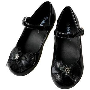 フォーマル 靴 女の子 18.5-23.5cm ブラック シューズ|paranino