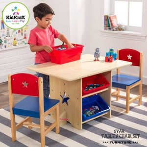 子ども用 スター テーブル&チェアー セット キッドクラフト|paranino