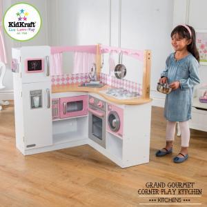 ままごと KidKraft グランドグルメ コーナー キッチン /配送区分:超大型|paranino