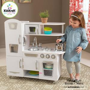 Online ONLY(海外取寄)/ おままごと 木製 キッチン ホワイト ビンテージ キッチン キッドクラフト kidkraft|paranino