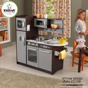 ままごと 木製 キッチン アップタウン エスプレッソ 大きい キッチン /配送区分:超大型|paranino