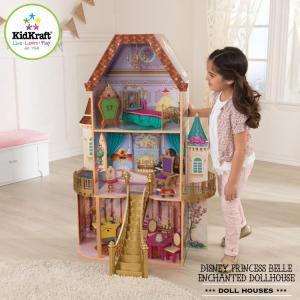 ディズニー ベル ファンタジー ドールハウス  木製 お人形遊び 収納 子供家具 キッドクラフト|paranino