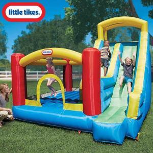 リトルタイクス ジャイアント スライド バウンサー トランポリン 大型遊具 滑り台 ジャンプ 膨らませる 家庭用 エアー遊具|paranino