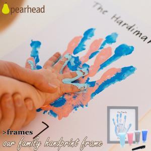 出産祝い 内祝い 手形 足型 ペアヘッド ファミリー ハンドペイント フレーム pearhead 6...