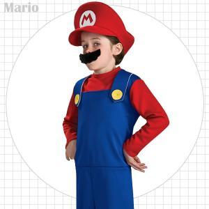 マリオ コスチューム 90-150cm 男の子 ハロウィン 仮装 子供 衣装 コスプレ paranino
