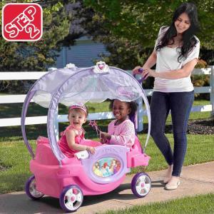 ステップ2 プリンセス チャリオット ワゴン 乗用玩具 乗り物 2人乗り ベビーカー STEP2 875000 /配送区分A paranino