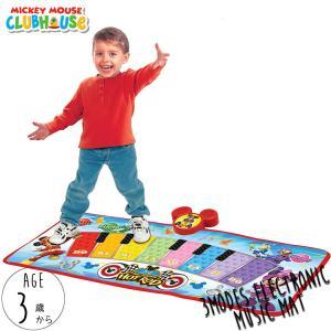 ミュージック ピアノマット ディズニー ミッキーマウス ピアノ おもちゃ タップピアノ 足で弾く 3歳から disney_y|paranino