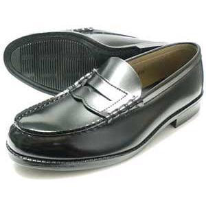 TALPA クラリーノ コインローファー ビジネスシューズ 黒 メンズ(男性用)/紳士靴 学生靴 通学靴|parashoe