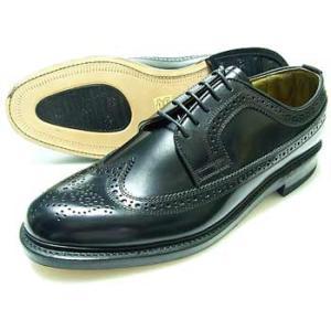 British Classic 本革底 ウィングチップ ビジネスシューズ(革靴 紳士靴)黒/グッドイヤーウェルト製法・日本製 parashoe