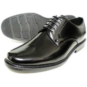 BELOUOMO プレーントゥ ビジネスシューズ(大きいサイズ 紳士靴)黒 4E(EEEE)28cm(28.0cm) 29cm(29.0cm) 30cm(30.0cm)|parashoe