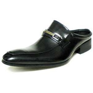 LASSU&FRISS 本革 ビットローファー ビジネススリッパ(ビジネスサンダル)黒/メンズ革靴 紳士靴 parashoe