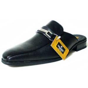 LASSU&FRISS ビットローファー ビジネススリッパ(ビジネスサンダル)黒/メンズ 紳士靴 parashoe