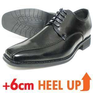 LASSU&FRISS スワールモカ シークレットヒールアップ ビジネスシューズ(紳士靴)黒|parashoe