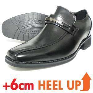 LASSU&FRISS ビットローファー シークレットヒールアップ ビジネスシューズ(紳士靴)黒|parashoe