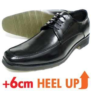 xiealto Uチップ シークレットヒールアップ ビジネスシューズ(紳士靴)黒|parashoe