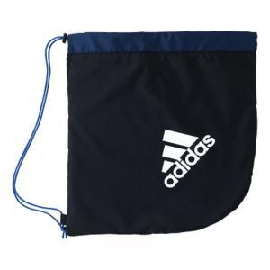 adidas(アディダス) AKM18BKNV ボールバッグ1個入れ サッカーボールバッグ ブラック×ブルー paraspo