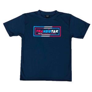 メール便OK TRANSISTAR(トランジスタ) HB20TS03 HB DRY L/S Tシャツ MIS-MATCH ハンドボールウェア ネイビー|paraspo
