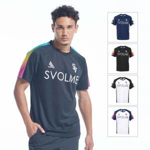 メール便OK SVOLME(スボルメ) 1201-44500 バックグラデTRトップ サッカープラクティスTシャツ メンズ レディース|paraspo
