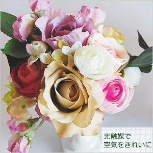アーティフィシャルフラワー アートフラワー 光触媒 誕生日 プレゼント ギフト 造花 花 枯れない エレガント|paravoce