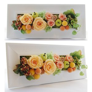 フレームプリザ プリザーブドフラワー ギフト 母の日ギフト 誕生日 プレゼント 開店祝い 新築祝い 花 額 壁掛け インテリア雑貨 (レクタングル)|paravoce|02