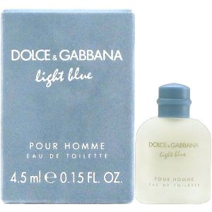 ドルチェ&ガッバーナ D&G ライトブルー プールオム EDT BT 4.5ml ミニ香水 ボトル 【香水フレグランス】|parfumearth
