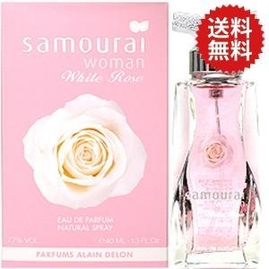 送料無料 【難あり】 アランドロン サムライ ウーマン ホワイトローズ EDP SP 40ml 【訳あり】【香水 フレグランス】|parfumearth