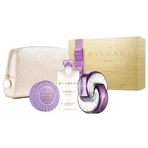 ブルガリ BVLGARI オムニア アメジスト スプリングセット2016 (EDT65ml +ボディミルク75ml +ソープ75g+オリジナルポーチ)Omnia Amethyste Gift Set 香水|parfumearth