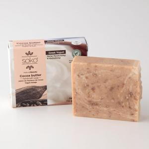 固形石けん SOKO カカオバター ナチュラル石けん 110g ギリシャヨーグルト 洗顔に効果的 母の日|parfums-salvadordali