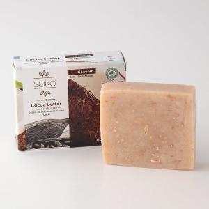 固形石けん SOKO カカオバター ナチュラル石けん 110g ココナッツ お肌が脂っぽい方 母の日|parfums-salvadordali