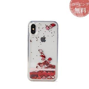 ケイトスペード スマホケース iPhoneケース スリップス リキッド グリッター XR CLEAR...