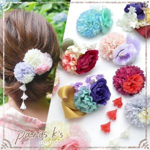 ■ コサージュ ヘアクリップ フラワー 花 ヘアアクセサリー ヘアアクセ 髪飾り 帯飾り 浴衣 着物|pariskids-net