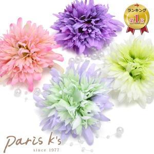 コサージュ 浴衣 髪飾り フラワー 花 ブローチ ヘアアクセサリー ヘアアクセ祭り 盆踊り|pariskids-net