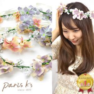 花かんむり 花冠 結婚式 造花 ウェディング r2018_ss ヘッドドレス 安い 髪飾り アッシュカラー|pariskids-net