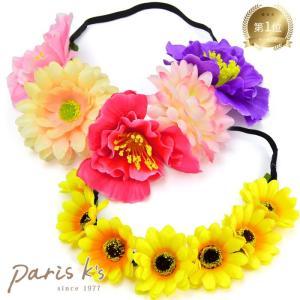 花かんむり 花冠 トロピカル フラワー カチューム r2018_ss 髪飾り 造花 花 安い j3s|pariskids-net