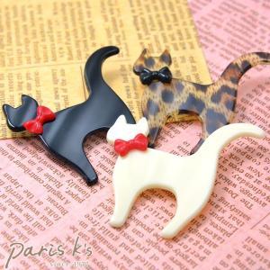 ブローチ プレート 猫 モチーフ ネコ ねこ にゃんこ j3s ギフト プレゼント|pariskids-net