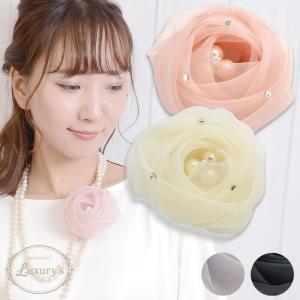 コサージュ ローズ 薔薇 ばら バラ パール Luxury's ラグリーズ 上品 フォーマル  結婚式 パーティ 入学式  花 フラワー j3s|pariskids-net