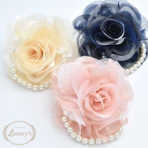 ■ コサージュ パール 花 フラワー お花 上品 フォーマル  結婚式 パーティ 入学式 Luxury's ラグリーズ j3s|pariskids-net