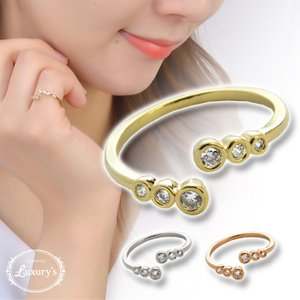 ピンキーリング リング 指輪 キュービック ジルコニア 巻き付き デザイン Luxury's 上品 重ねづけ 大人可愛い おしゃれ 上品 きれいめ パリスキッズ|pariskids-net