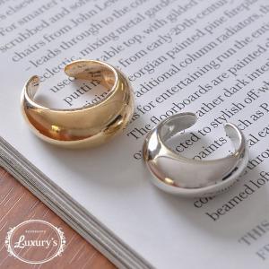 リング 指輪 シンプル メタル 大ぶり ごつめ フリーサイズ ゴールド シルバー Luxury's ラグリーズj3s ギフト プレゼント pariskids-net