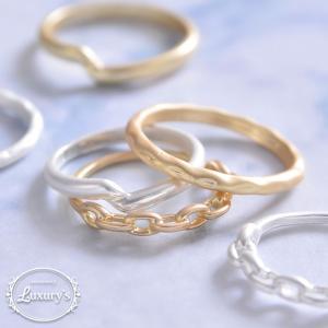 指輪 リング マットリング マット 細め シンプル 重ねづけ 華奢 ゴールド シルバー  レディース Luxury's ラグリーズ j3s ギフト プレゼント pariskids-net