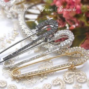 ブローチ ラインストーン パヴェ ワンピース 結婚式 キラキラ j3s ギフト プレゼント|pariskids-net