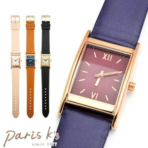 腕時計 レディース スクエア 四角 シンプル フェイクレザー ベルト j3s ギフト プレゼント pariskids-net