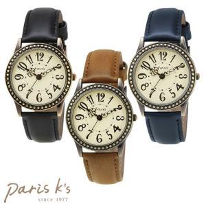 腕時計 レディース アンティーク 黒 ブラウン シンプル j3s ギフト プレゼント pariskids-net