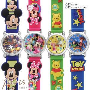 腕時計 Disney ディズニー キャラクター ラバー ウォッチ ミッキー ミニー ドナルド j3s ギフト プレゼント pariskids-net