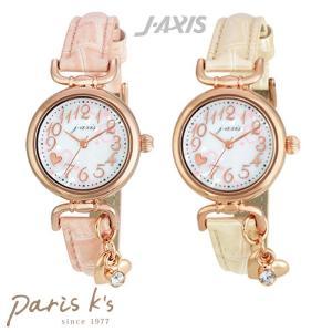 腕時計 レディース 白 腕時計 シンプル ハート ピンク j3s ギフト プレゼント pariskids-net