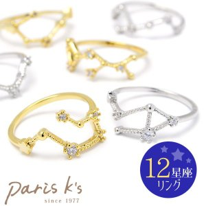 指輪 レディース キラキラ ラインストーン 12星座 リング 可愛い 大人 シンプル 結婚式 simple2017|pariskids-net