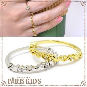 指輪 レディース デザイン プチ ハート ピンキーリング|pariskids-net