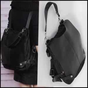 2WAYディバッグ リュックサック ビッグバッグ ショルダーバッグ ファッションバッグ ブラック|parismadam