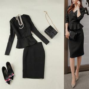 カシュクール大人スーツ セットアップ ブラックスーツ セレモニー 結婚式 S〜XL ベルト付き 送料無料|parismadam